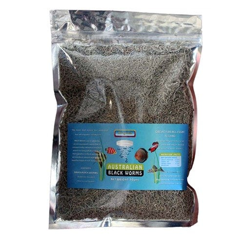 Australian Freezed Dried Black Worms Loose 50g Bag