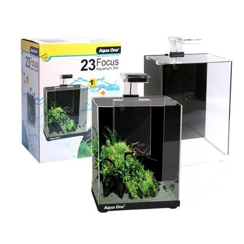 Aqua One Focus 23 LED Glass Aquarium Black