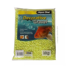 Aqua One Gravel Metallic Lime 2kg