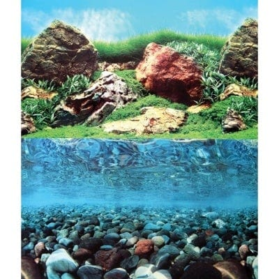 Aqua One Aquarium Background Stone Grass