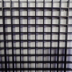 Egg Crate Black (Half Sheet) 2ft x 2ft