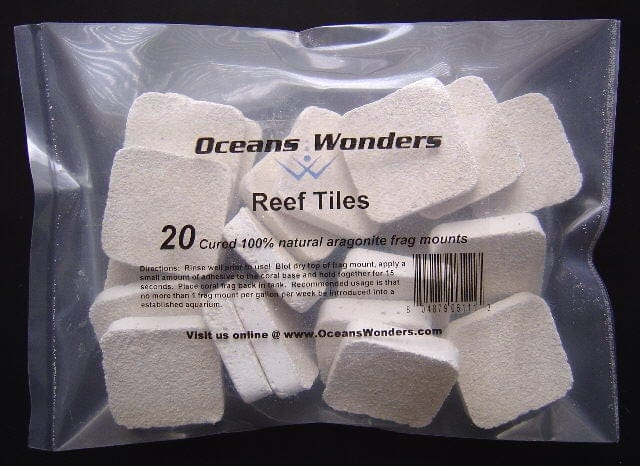 Ocean Wonders Frag Tile Aragonite coral propagation coral fragging