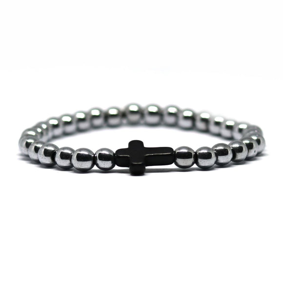 Cross Hematite (Silver-Black)