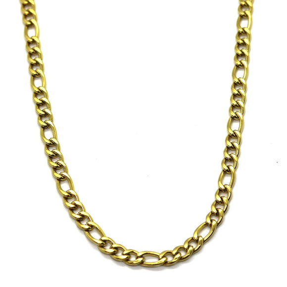 Figaro Chain 6mm (Gold)