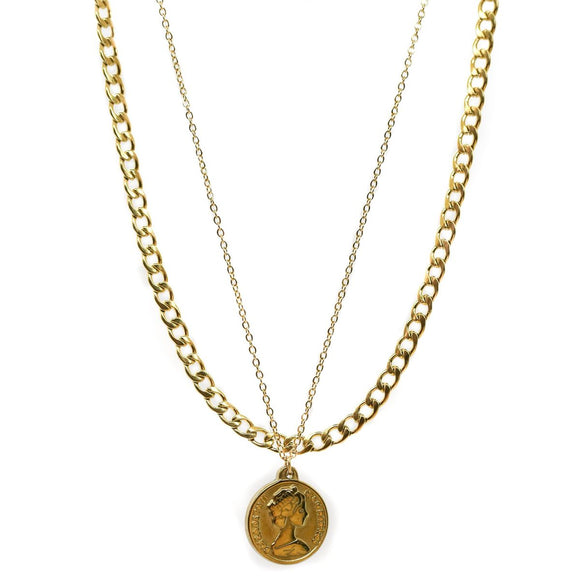 Coin Double Chain (Gold)