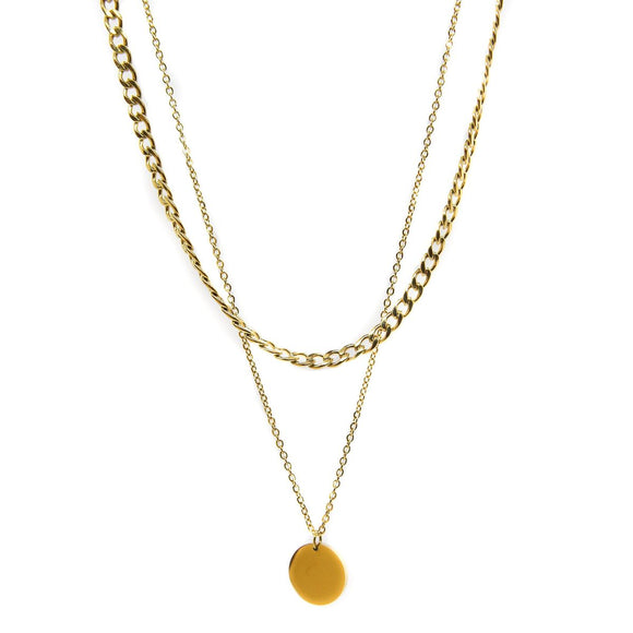Dot Double Chain (Gold)