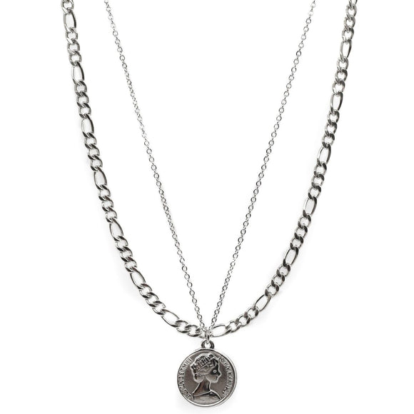 Coin Double Chain (Silver)