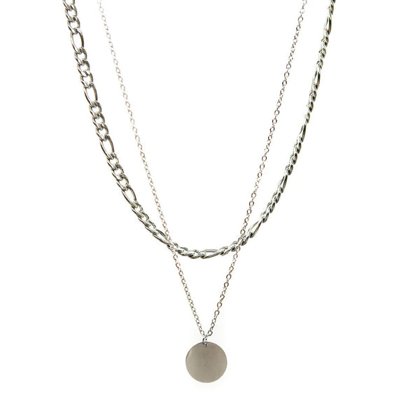 Dot Double Chain (Silver)