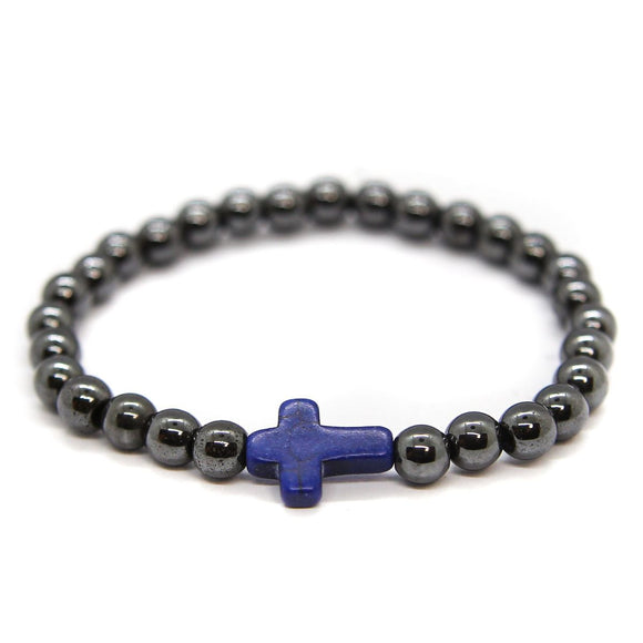 Cross Hematite (Black-Blue)