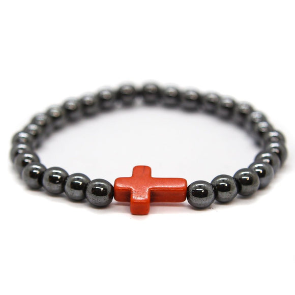 Cross Hematite (Silver-Orange)
