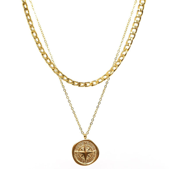 Compass Double Chain (Gold)