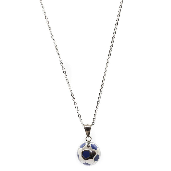 Ball Chain (Silver-Blue)