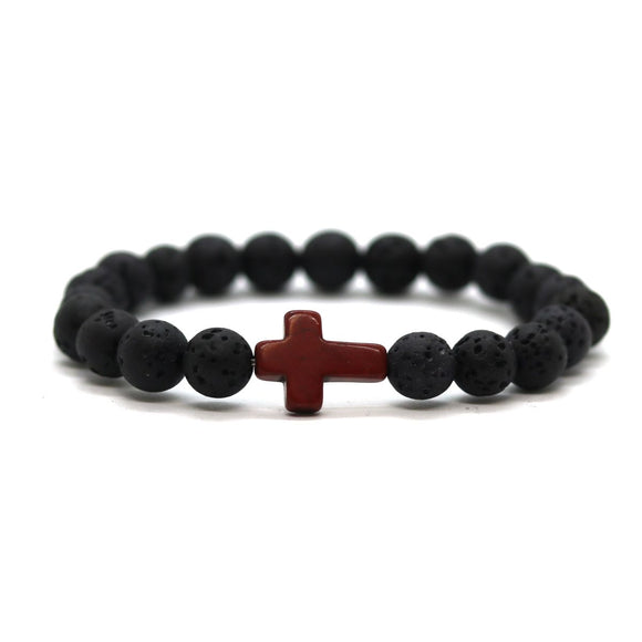 Cross (Black-Dark Red)