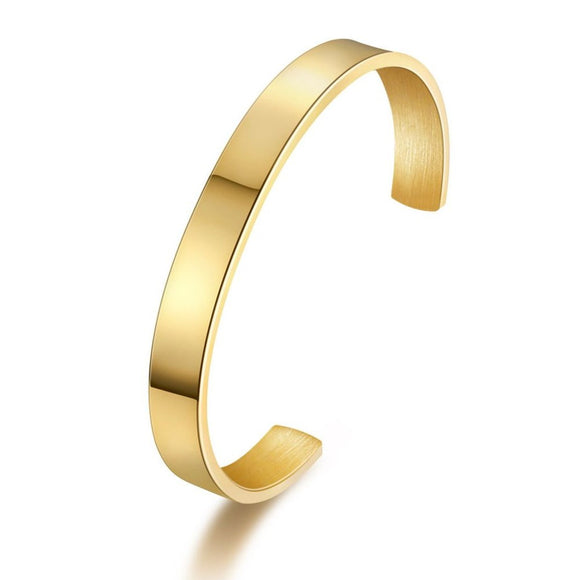 Cuff Gold 8mm (Stainless)