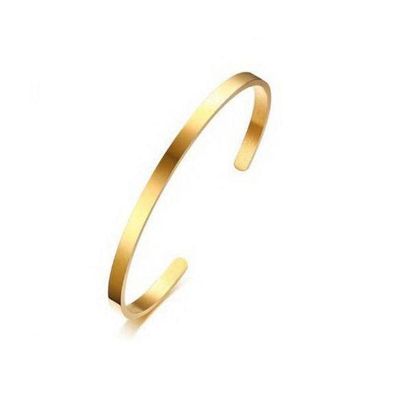 Cuff Gold 4mm (Stainless)