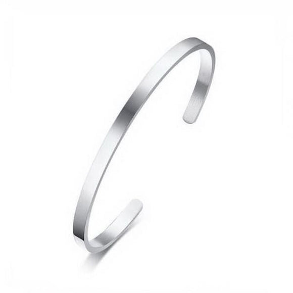 Cuff Silver 4mm (Stainless)