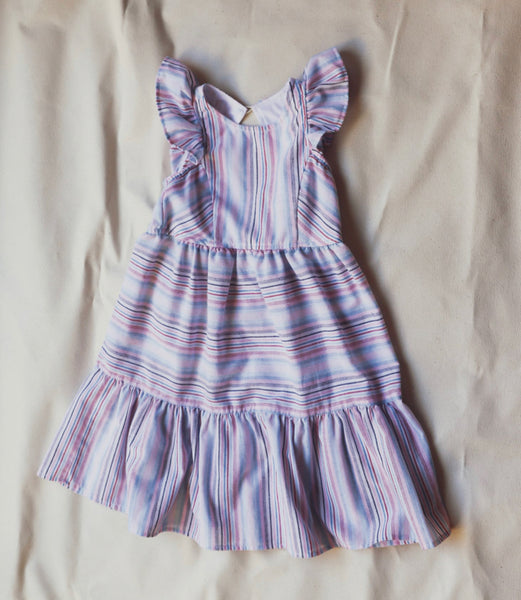 Evie Dress multi stripes