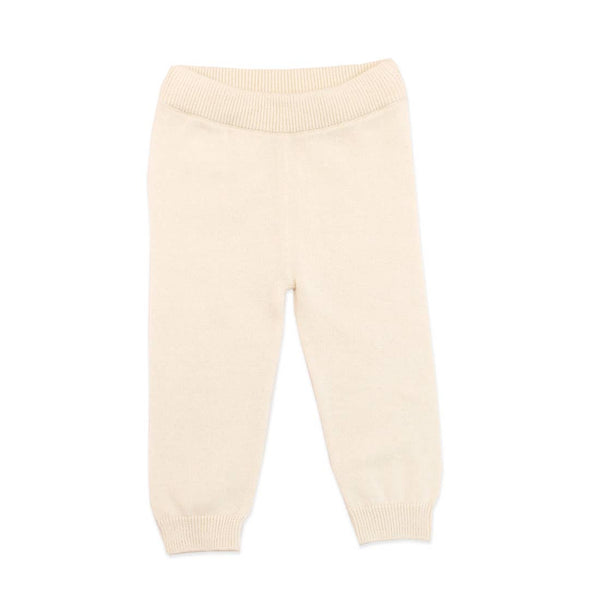 Organic Cotton Cream Sweater Knit Baby Pants