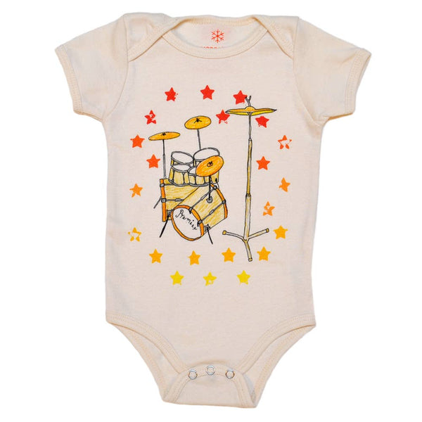 Drums organic bodysuit