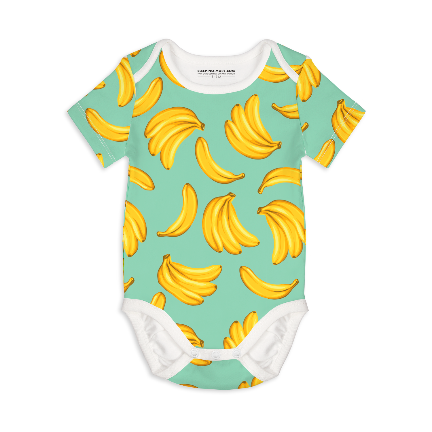 Organic Bananas Short Sleeve Bodysuit