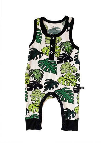 palm leaves bamboo tank romper- last one! 18/24M