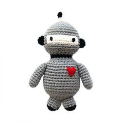 Robot Hand Crocheted Rattle