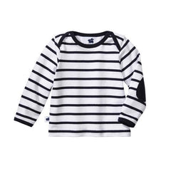 Long Sleeve Everywhere Tee - Navy Stripe- last one! 24M