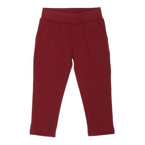 Soft Cotton Baby Leggings - Oxblood