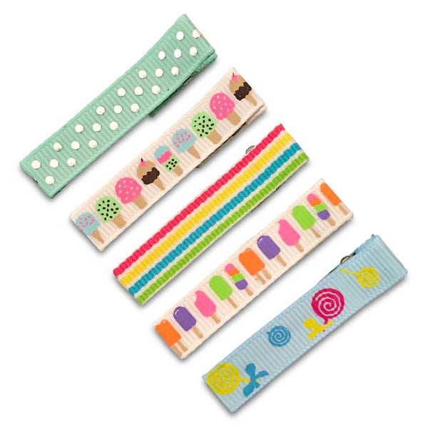 sweets 5-pack of hair clips