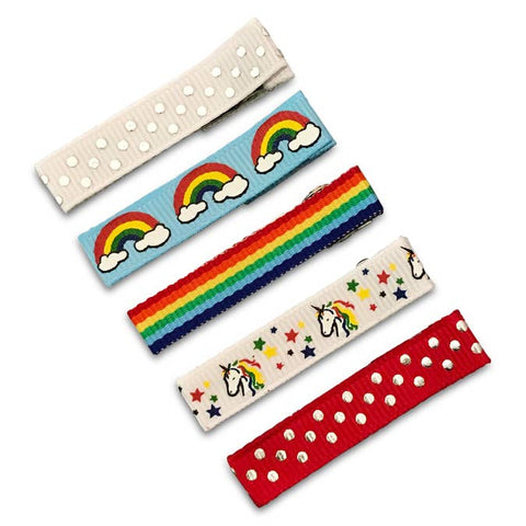 rainbow magic 5-pack of hair clips