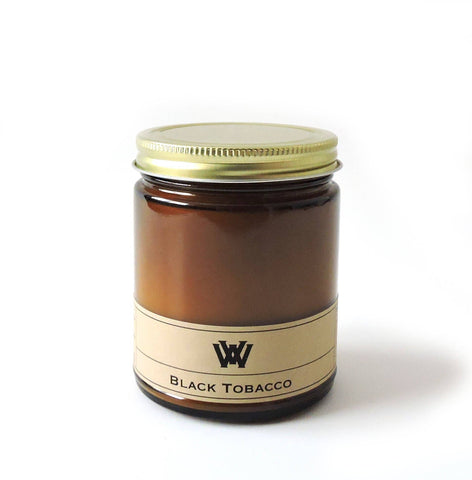 W.V. Candle Co. - 7.2 oz Black Tobacco Soy Candle
