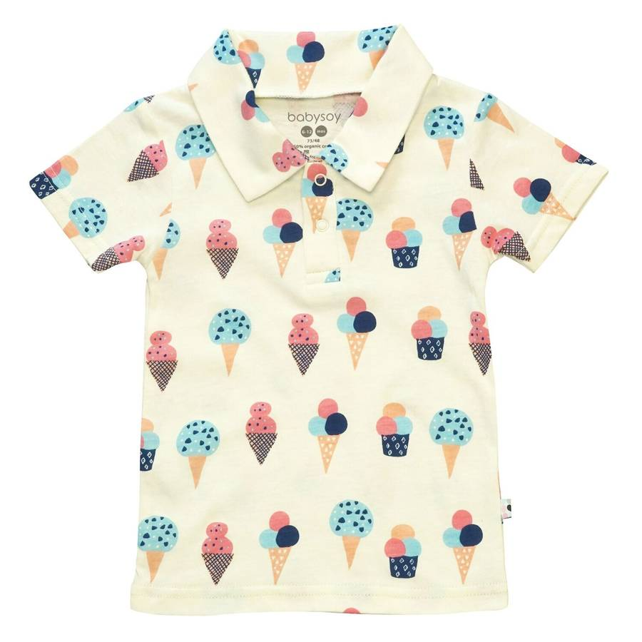 organic ice cream polo tee