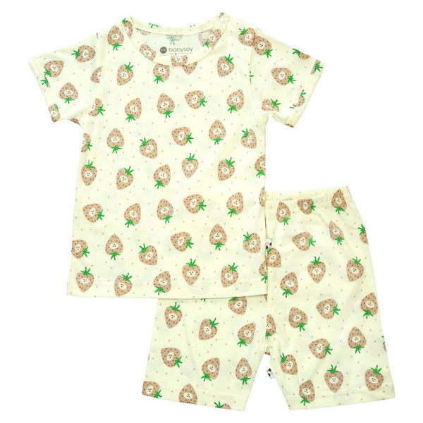 strawberry short sleeve lounge set