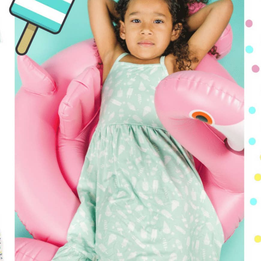 mint ice cream maxi dress- last one!