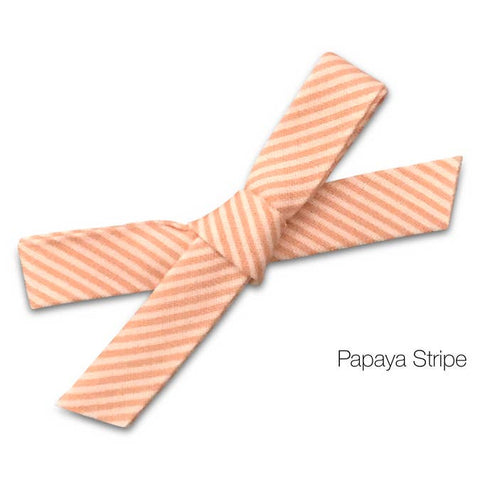 papaya stripe bow baby headband