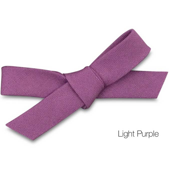 light purple bow baby headband