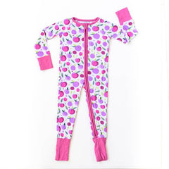 plums bamboo zip romper/sleeper