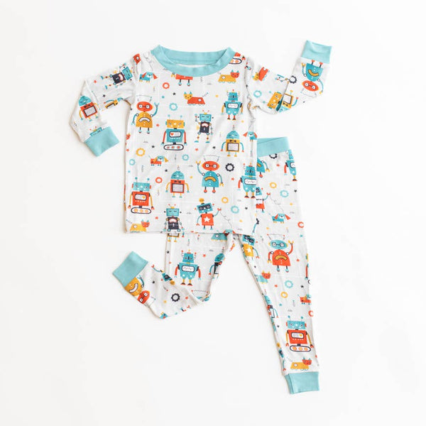 robot 2 pc bamboo pajama set