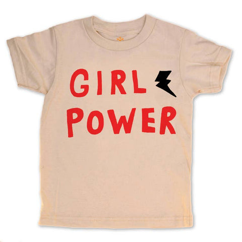 girl power organic tee - last size! 2T