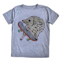 Hedgehog Skater Tee - Grey