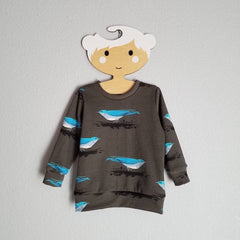 mountain blue bird organic sweatshirt