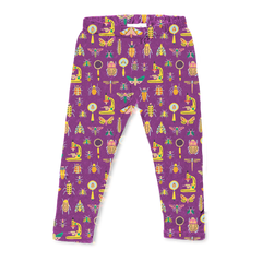 Cotton Printed Leggings - Entomology