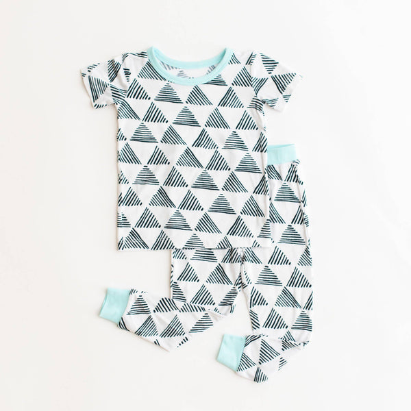 Triangles Two-Piece Short Sleeve Bamboo Pajama Set