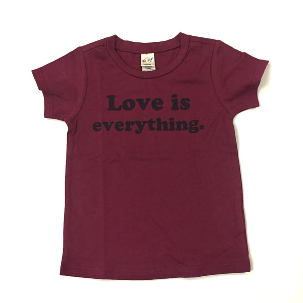 LGF love is everything maroon tee