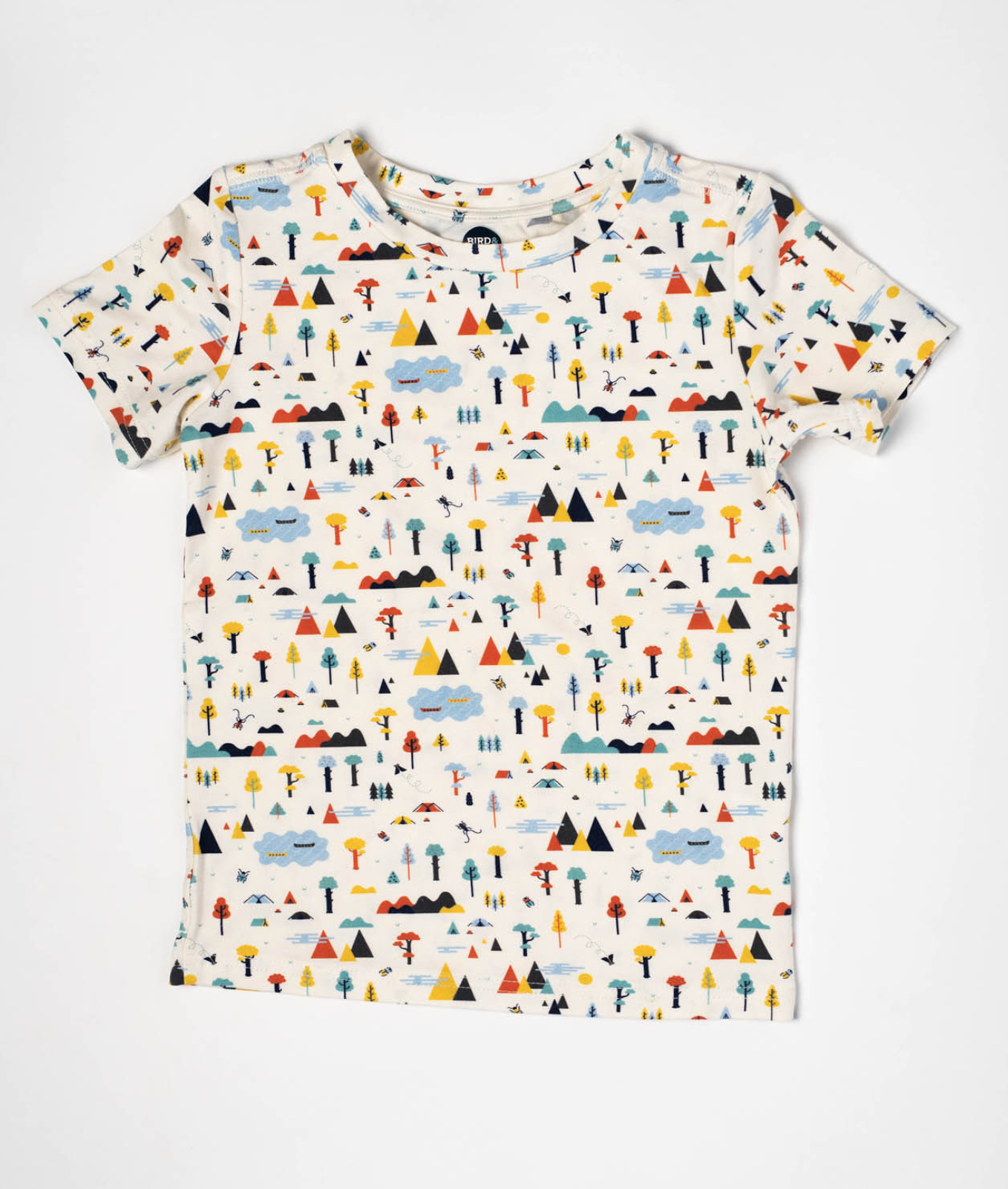 Bird & Bean - Happy Camper Short Sleeved T-shirt