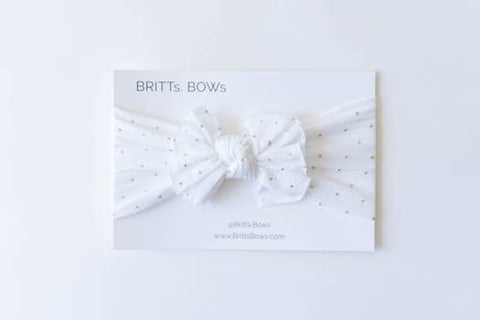 White Sparkle Nylon Headbands