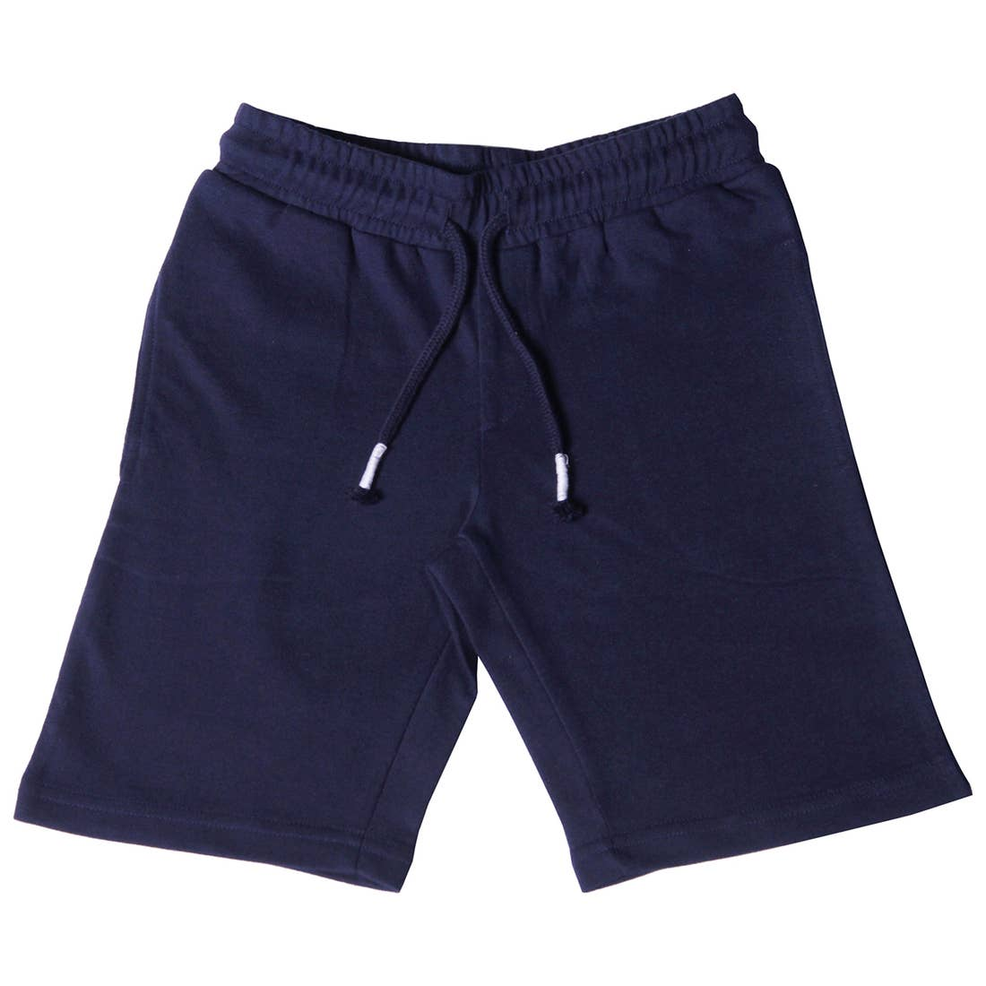 navy knit jogger short