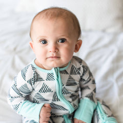 Triangles convertible romper/sleeper