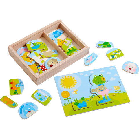 Wooden Puzzle Merry Animal Mix and Match
