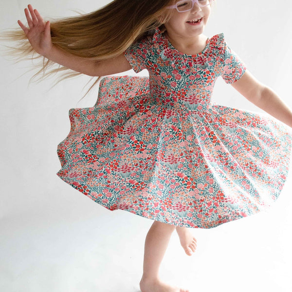 floral meadow twirl dress
